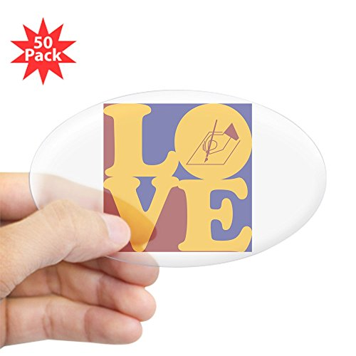 CafePress - Writing Love Oval Sticker (50 Pk) - Sticker (Oval 50 pk)