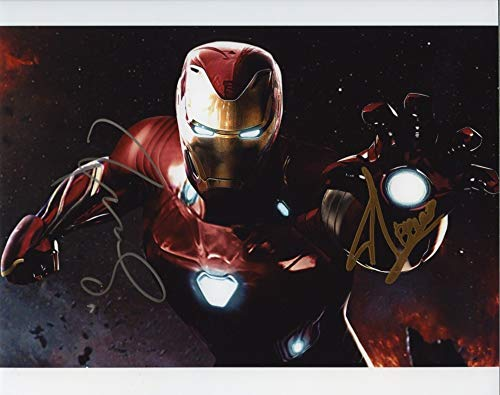 Stan Autographed 8x10 Photo - Avengers Infinity War Endgame Robert Downey Jr and Stan Lee Iron Man Signed Autographed 8x10 Photo Certified Authentic COA