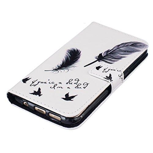 Carcasa para smartphone (PU y silicona, para smartphone Samsung Galaxy S7 Edge , diseño estampado, elemento conector para eliminar el polvo) negro 7 7