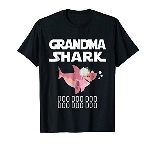 Grandma Shark Tee Mothers Day Gift from Husband Son Shirt