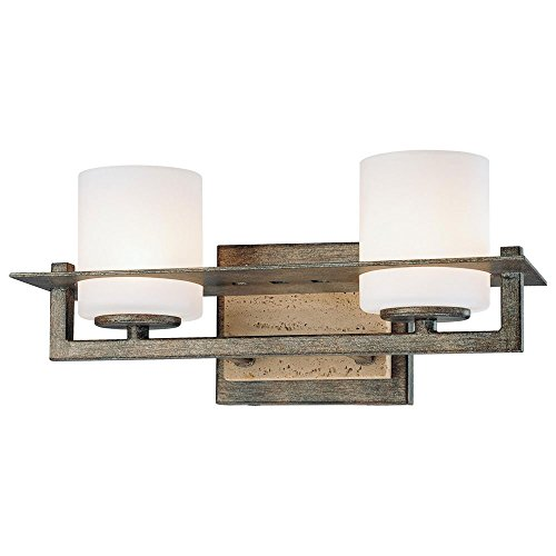 Minka Lavery 6462-273, Compositions, 2 Light Bath Fixture, Aged Patina Iron - Fixture Aged Iron