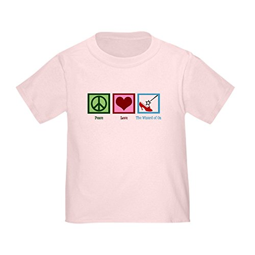 CafePress Peace Love Wizard of oz - Cute Toddler T-Shirt, 100% (Glenda Wizard Of Oz)
