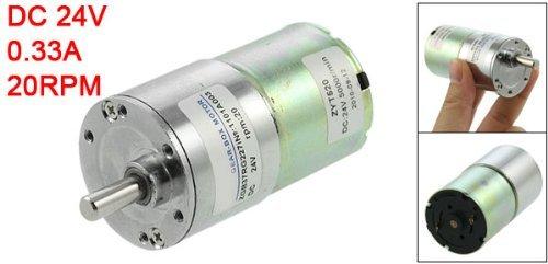 Amazon.com: DealMux elétrica 37 milímetros Gearbox Diâmetro DC Motor engrenado 0.33A 20rpm 24V: Automotive