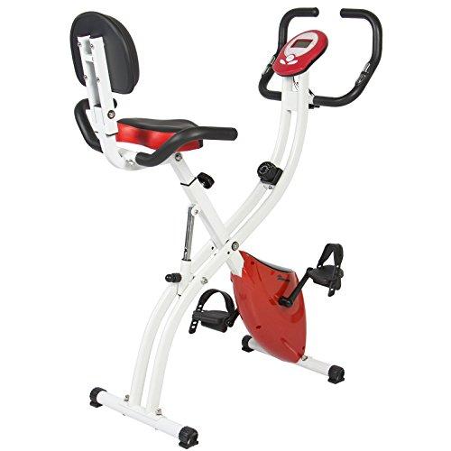 Folding Adjustable Magnetic Upright Exercise Bike Fitness Upgraded Machine upersale