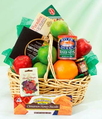 Decadent Chocolate & Fruit Fondue Basket- Same Day Gift Baskets Delivery - Fresh Fruit Baskets - Fruit Basket Delivery - Organic Fruit Baskets - Best Gift Baskets