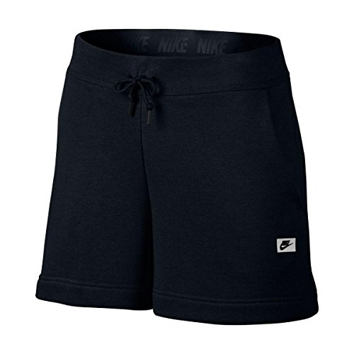 NIKE Womens Sportswear French Terry Shorts Black S (Nike Womens Terry Shorts)