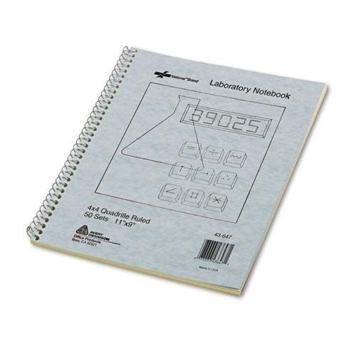 - Rediform® Wirebound Duplicate Lab Notebook, Quadrille Rule, 9 x 11, 100 Sheets