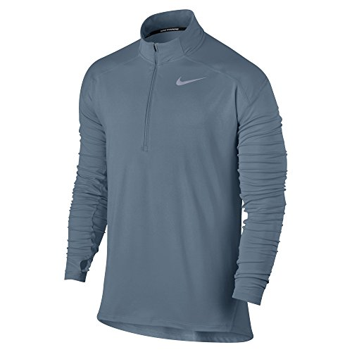 NIKE Men's Dry Element Running Top Armory Blue/Heather Size X-Large