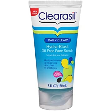 Clearasil Daily Clear Hydra-Blast Scrub, 5 oz (Pack of 2) Sea Breeze Astringent Original Formula - 10 Oz (3 Pack)