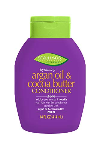 Spa Haus Naturally Conditioner Argan Oil & Cocoa Butter 14 Fluid Ounce