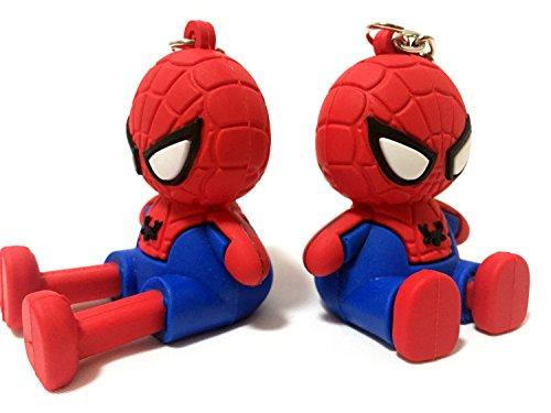 Boqiao 1 PC 3D Soft PVC Cartoon Doll Keychain Spiderman