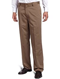Men's Never Iron Essential Khaki D3 Classic-Fit Flat-Front Pant