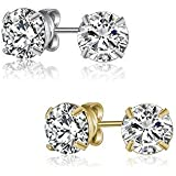Mestige Women's Classic Crystal & Gold Earring Pack - SMS053