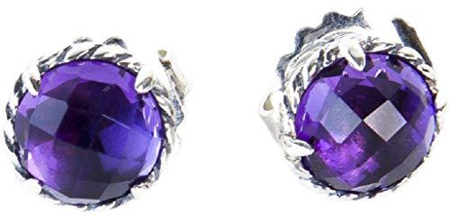 Silver Sterling Chatelaine (David Yurman Women's Sterling Silver Chatelaine Earrings 10mm Amethyst)