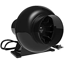 Growneer 4 Inch 195 CFM Inline Duct Fan, HVAC Mixed Flow Energy Efficient Blower, Vent Ventilation Fan Air Circulation for Indoor Grow Rooms
