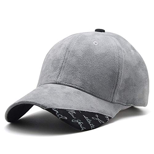 - CHENTAI New Suede Fabric Baseball Cap Men Women Cotton Snapback Hat Gray