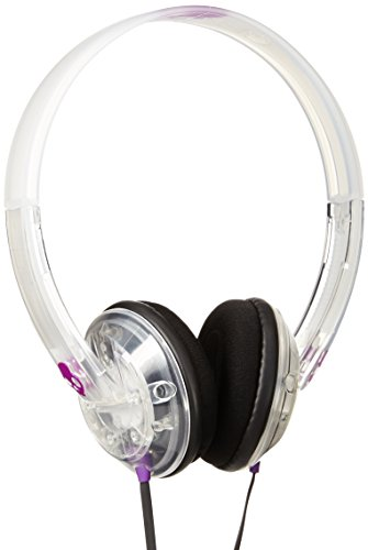 Skullcandy Unisex Uprock Mic'd Clear/Purple Headphones