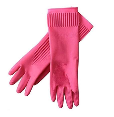 Kitchenware Mamison Superior Quality Rubber Gloves Pink Size -