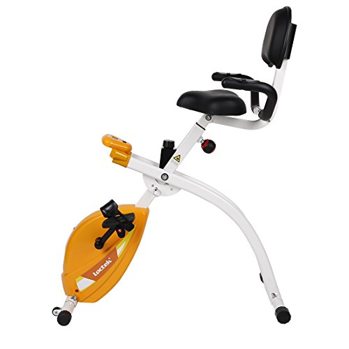 Loctek U2 Exercise Bike Under Deskside Wellness Upright Bike Magnetic Recumbent Bike Fitness with Back Rest by Loctek