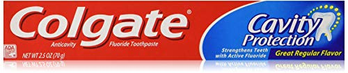 Colgate Cavity Protection Fluoride Toothpaste, Great Regular Flavor, Travel Size (2.5 Ounce 8 Pack) by Colgate (Image #2)