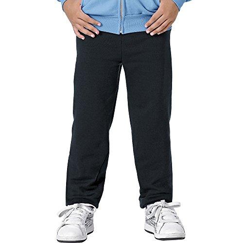 Hanes Youth Comfortblend Ecosmart Fleece Pant (Black) (S)
