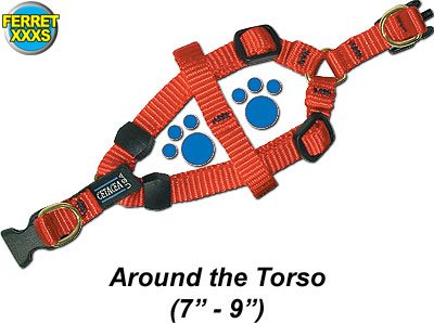 Cetacea Step-in Dog Harness – Pink Size Ferrett XXX-Small