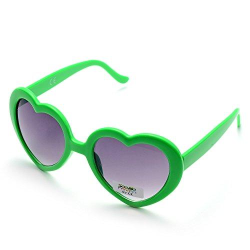 de 6 6 Neon pack Verdes de Pares Paquete Forma Colores Corazón Fiesta pack Gafas Sol Multicolor 6 ONNEA 0HUnawU