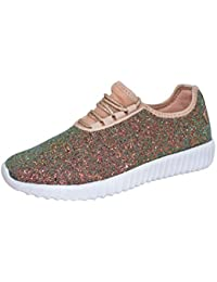 Women's Fashion Glitter Sneaker Walking Shoes Stylish Shoes Sparkly Shoes for Women