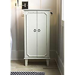 Hives and Honey Cabby Jewelry Armoire, Tuscan White