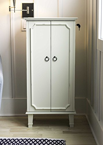 Hives and Honey 6006-945 Cabby Jewelry Armoire, White