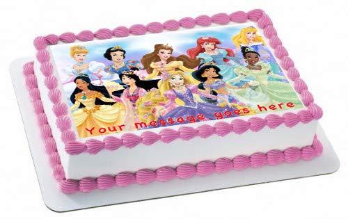 Decoración para tarta comestible con diseño de princesas y ...
