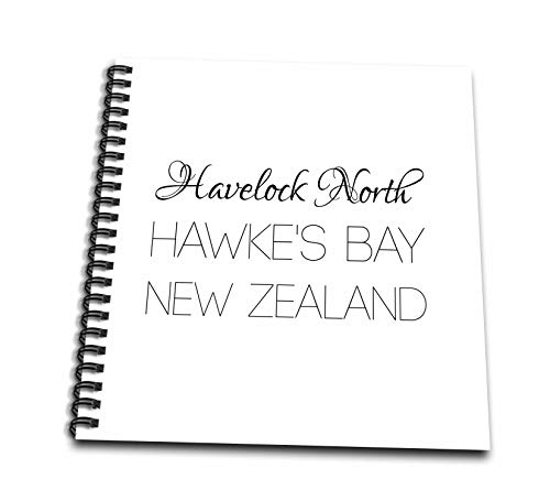 New Zealand Hawkes Bay - 3dRose Alexis Design - New Zealand Cities - Havelock North, Hawkes Bay, New Zealand. Patriot, Region, Home Town - Drawing Book 8 x 8 inch (db_308557_1)