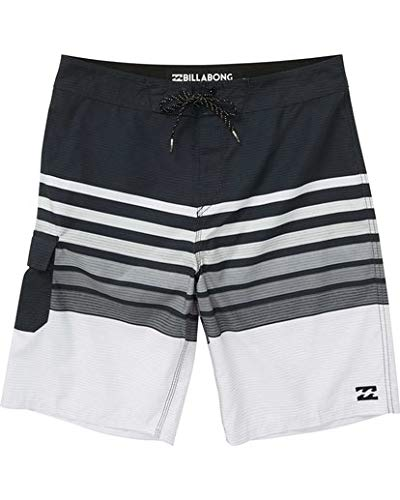 Billabong Boys' Big Day OG Stripe Boardshort, Black, 27