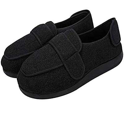 Men's Diabetic Slippers Memory Foam Adjustable Extra Wide Width House Shoes Anti Skid Walking Shoes Comfy Plush/Breathable Mesh Swollen Feet Arthritis Edema Orthopedic Shoes Indoor Outdoor Footwear | Slippers