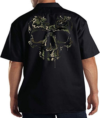 Work Shirt Military Shirt Special Ops Camouflage Skull T-Shirt Tee Skulls, Navy Blue, X-Large (Navy Operations Special)