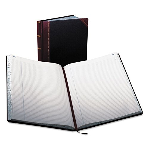 Columnar Book, Record Rule, Black Cover, 300 Pages, 14 1/8 X 10 7/8 By: Boorum & Pease by Office Realm