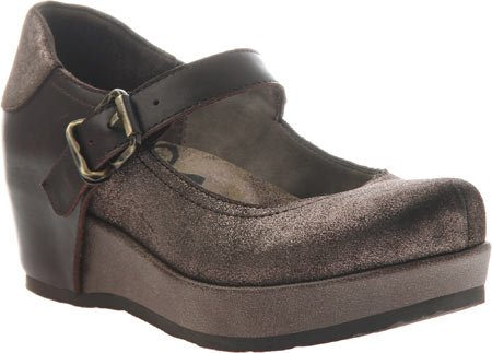 OTBT Women's Aura Mary Jane Flatform Shoes Dark Brown Leather