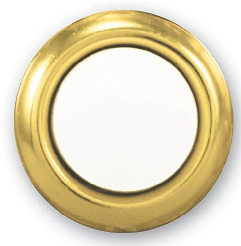 Heath Zenith SL-455-02 Wired Replacement Button, Gold Rim with Lighted Pearl (Door Chime Push Button)
