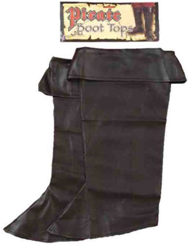 Forum Novelties Inc. Child's Black Simulated Leather Pirate Costume Boot Tops,Multicolor,One Size