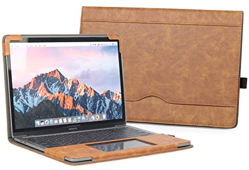 """TYTX MacBook Air Leather Case 13 Inch 2020 2019 2018 (A2337 A2179 A1932) Laptop Sleeve Protective Folio Book Cover (New MacBook Air 13"""", Brown)"""