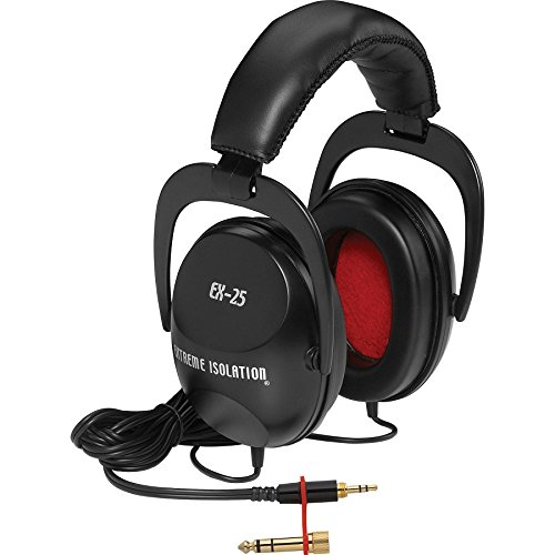 Direct Sound EX-25 Extreme Isolation Professional Headphones, OVER (Skull Instrument Cable)