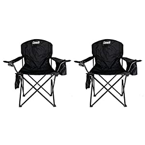 Coleman (2 Camping Outdoor Oversized Quad Chairs/Coolers