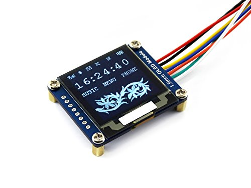 Waveshare 1 5inch OLED Display Module 128x128 Pixels 16-bit Grey Level with  Embedded Controller Communicating via SPI or I2C Interface
