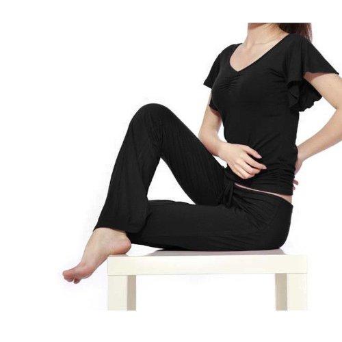 Genuine 95% Modal ropa deportiva suave cómodo yoga desgaste (2unidades y # xFF09; negro