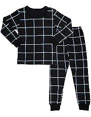 MiNi-K Baby Toddler Kids Boys Girls Sleepwear Pajamas 100% Cotton Long Sleeve 2pcs Pjs Set