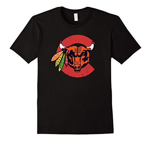 Mens Chicago Sports Mashup T-shirt XL (Chicago Sports Novelty)