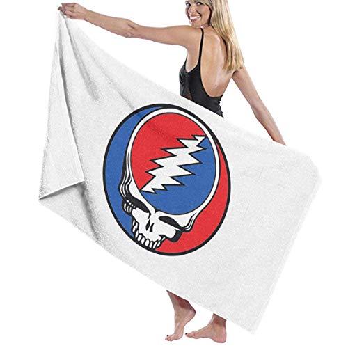 VIMMUCIR Bath Towel, The Grateful Dead Logo Bath Towels Super Absorbent Beach Bathroom Towels for Gym Beach SWM Spa