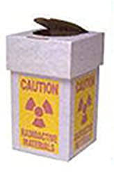 Benchtop Radioactive Waste Collection Box with Plastic Liner and Lid, 8 x 10 Inches , 6 per Case