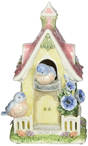 Image of Lovely Bluebird Birdhouse Musical Figurine