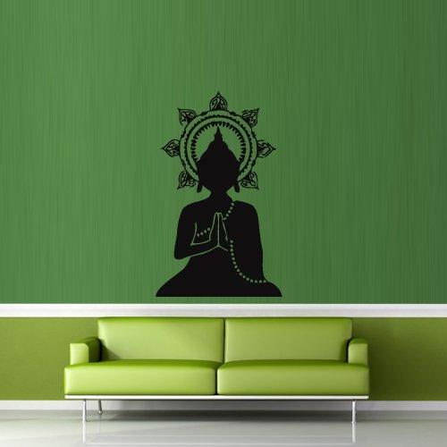 - Wall Decal Buddha India Yoga Coated Gautam Religion Life Teaching bedroom M350